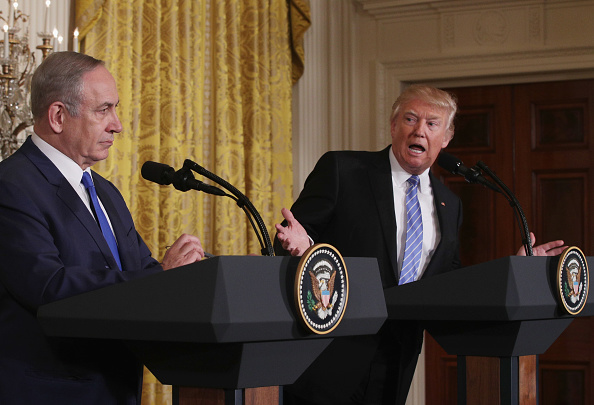 Alex Wong「Donald Trump Holds Joint Press Conference With Israeli PM Netanyahu」:写真・画像(7)[壁紙.com]