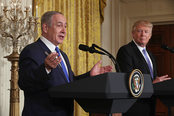 Alex Wong「Donald Trump Holds Joint Press Conference With Israeli PM Netanyahu」:写真・画像(6)[壁紙.com]