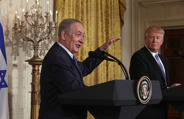 Alex Wong「Donald Trump Holds Joint Press Conference With Israeli PM Netanyahu」:写真・画像(10)[壁紙.com]