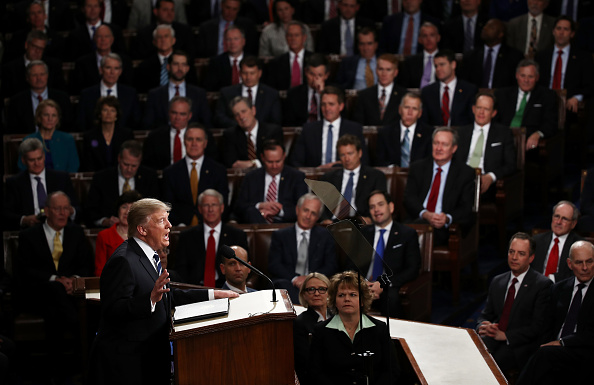 Joint Session of Congress「Donald Trump Delivers Address To Joint Session Of Congress」:写真・画像(16)[壁紙.com]