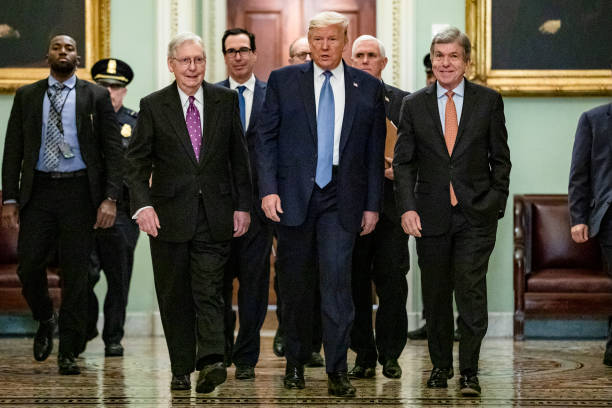 President Trump Meets With GOP Lawmakers On Capitol Hill On Coronavirus Plan:ニュース(壁紙.com)