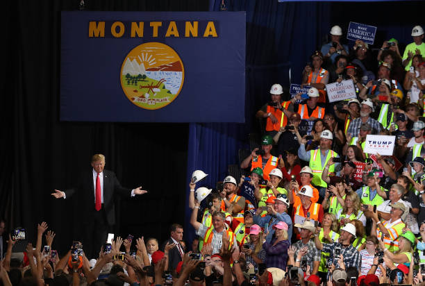 President Trump Holds Rally In Great Falls, Montana:ニュース(壁紙.com)