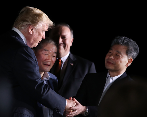 Maryland - US State「President Trump Greets The Three Americans Freed From North Korea Upon Their Arrival Back In The U.S.」:写真・画像(18)[壁紙.com]