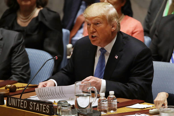 President Donald Trump Chairs UN Security Council Meeting On Iran:ニュース(壁紙.com)