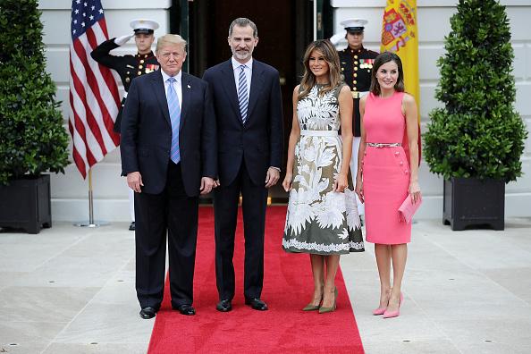 Letizia of Spain「President Trump Hosts Spain's King Felipe And Queen Letizia At The White House」:写真・画像(9)[壁紙.com]