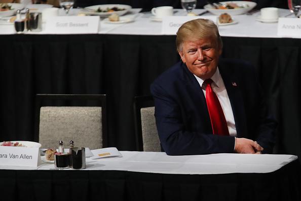 Economy「President Trump Delivers Address On Economy And Trade At Economic Club Of NY」:写真・画像(4)[壁紙.com]
