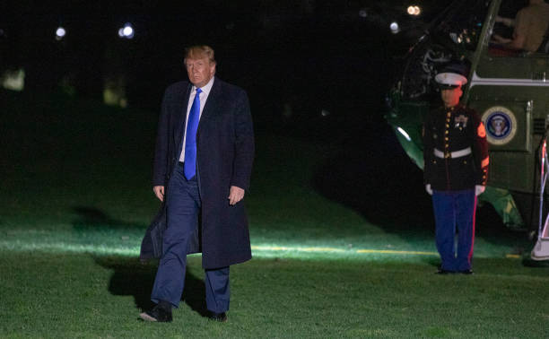 President Donald Trump Returns To The White House:ニュース(壁紙.com)
