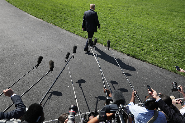 Rear View「President Trump Departs White House For Annapolis」:写真・画像(3)[壁紙.com]
