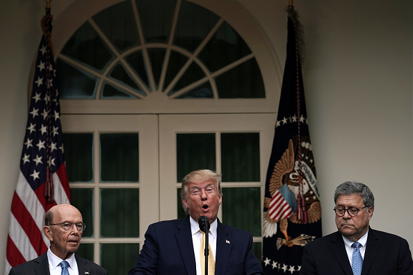 Alex Wong「President Trump Holds News Conference In Rose Garden On Census And Citzenship」:写真・画像(7)[壁紙.com]