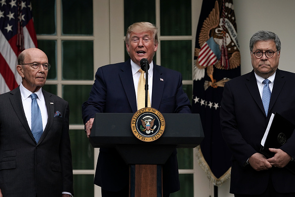 Wilbur Ross「President Trump Holds News Conference In Rose Garden On Census And Citzenship」:写真・画像(6)[壁紙.com]
