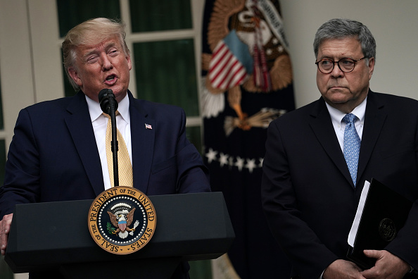 Attorney General「President Trump Holds News Conference In Rose Garden On Census And Citzenship」:写真・画像(8)[壁紙.com]