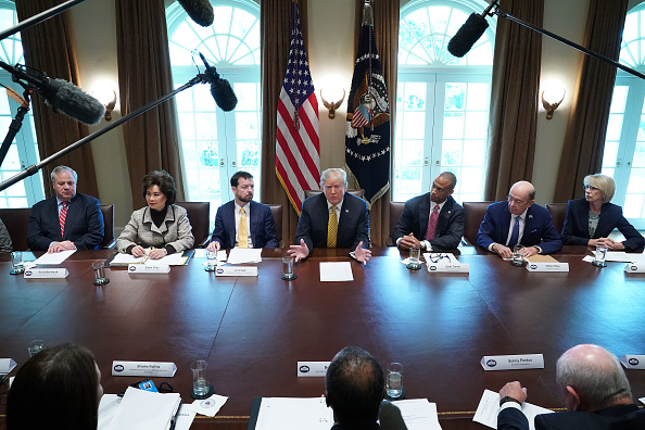 Politician「Trump Attends White House Opportunity And Revitalization Council Meeting」:写真・画像(11)[壁紙.com]