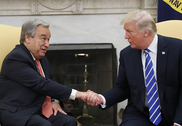 Secretary-General「Donald Trump Meets With UN Secretary General Guterres At The White House」:写真・画像(6)[壁紙.com]