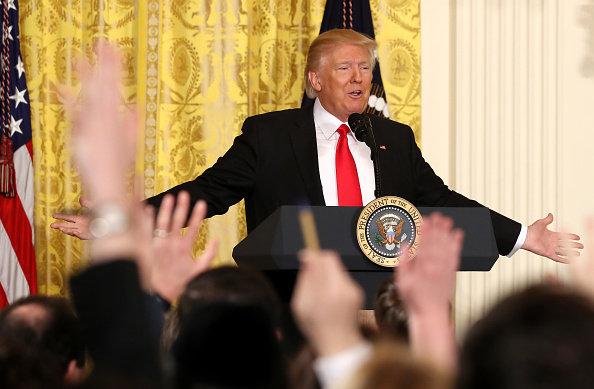 The Media「President Trump Holds News Conference In East Room Of White House」:写真・画像(13)[壁紙.com]