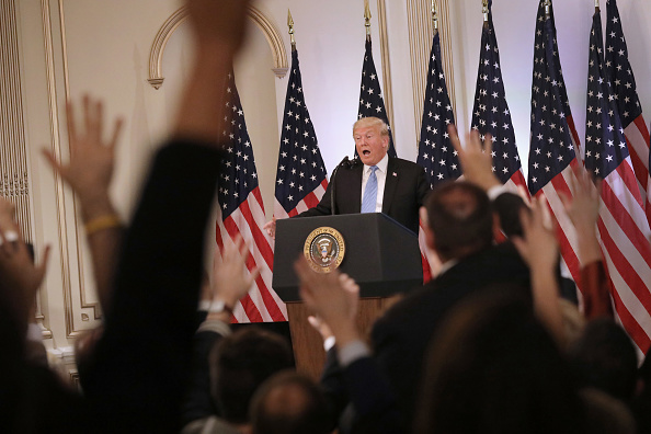 Press Room「President Trump Holds News Conference In New York」:写真・画像(3)[壁紙.com]