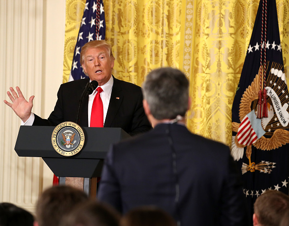 Press Room「President Trump Holds News Conference In East Room Of White House」:写真・画像(3)[壁紙.com]