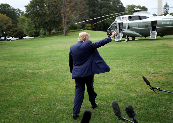 Rear View「President Trump Departs White House For Florida」:写真・画像(17)[壁紙.com]