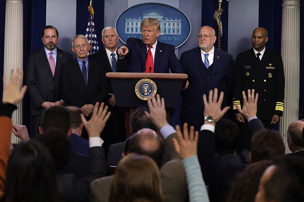 Meeting「President Trump Holds News Conference On Coronavirus At The White House」:写真・画像(17)[壁紙.com]