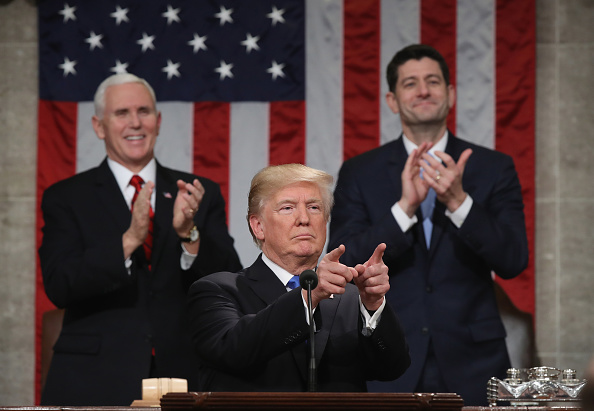 US State Of The Union Address「President Trump Addresses The Nation In His First State Of The Union Address To Joint Session Of  Congress」:写真・画像(11)[壁紙.com]