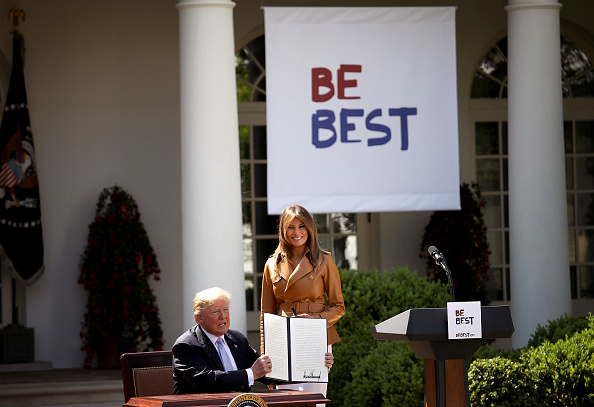 Win McNamee「First Lady Melania Trump Speaks On The Launch Of Her Initiatives In The Rose Garden Of White House」:写真・画像(9)[壁紙.com]