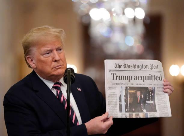 President Trump Delivers Statement On Senate Impeachment Trial's Acquittal:ニュース(壁紙.com)