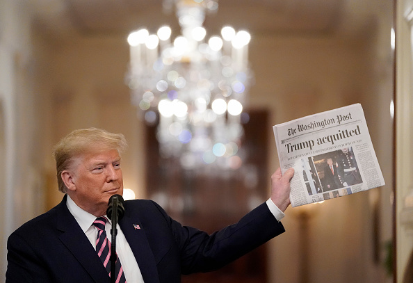 The Washington Post「President Trump Delivers Statement On Senate Impeachment Trial's Acquittal」:写真・画像(8)[壁紙.com]