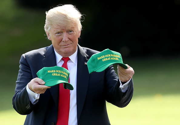 Hat「President Trump Departs The White House En Route To Rally In Indiana」:写真・画像(10)[壁紙.com]