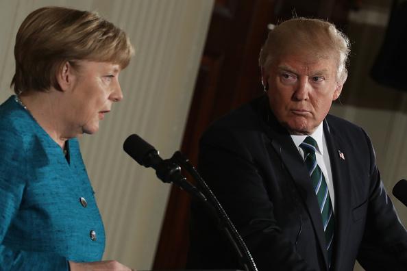 アンゲラ・メルケル「Donald Trump Holds Joint Press Conference With German Chancellor Angela Merkel」:写真・画像(14)[壁紙.com]