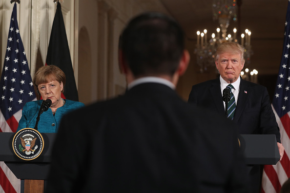 Politician「Donald Trump Holds Joint Press Conference With German Chancellor Angela Merkel」:写真・画像(14)[壁紙.com]