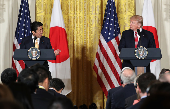 Diplomacy「President Trump Holds Joint Press Conference With Japanese PM Shinzo Abe」:写真・画像(8)[壁紙.com]