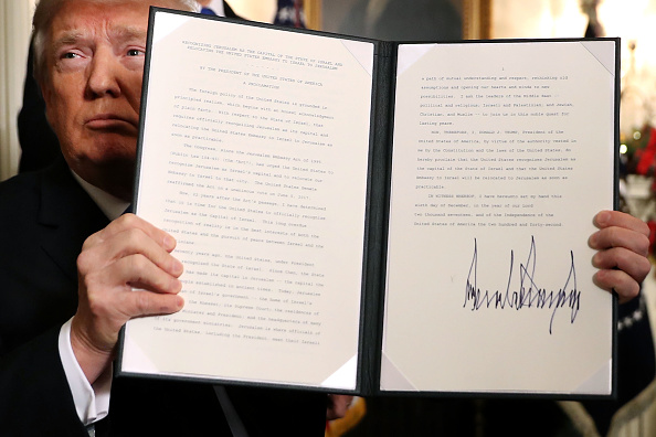 Israel「President Trump Announces U.S. Will Recognize Jerusalem As Capital Of Israel」:写真・画像(18)[壁紙.com]
