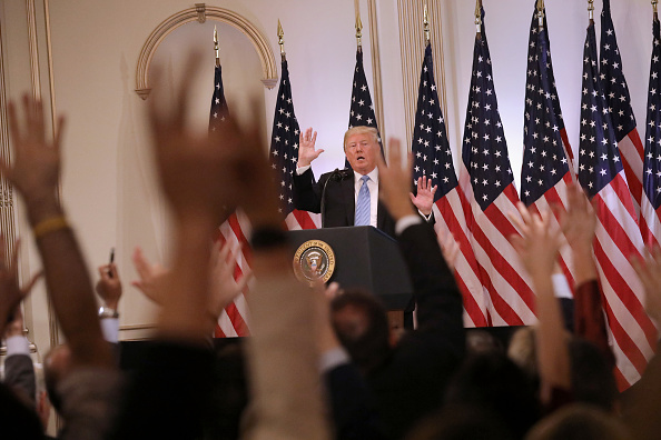 Press Room「President Trump Holds News Conference In New York」:写真・画像(11)[壁紙.com]