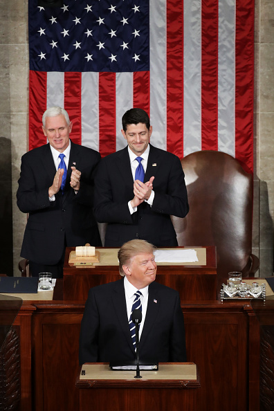 Joint Session of Congress「Donald Trump Delivers Address To Joint Session Of Congress」:写真・画像(7)[壁紙.com]