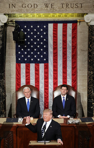 Joint Session of Congress「Donald Trump Delivers Address To Joint Session Of Congress」:写真・画像(11)[壁紙.com]