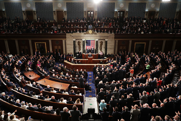 Above「Donald Trump Delivers Address To Joint Session Of Congress」:写真・画像(1)[壁紙.com]