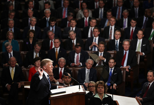 Congress「Donald Trump Delivers Address To Joint Session Of Congress」:写真・画像(9)[壁紙.com]