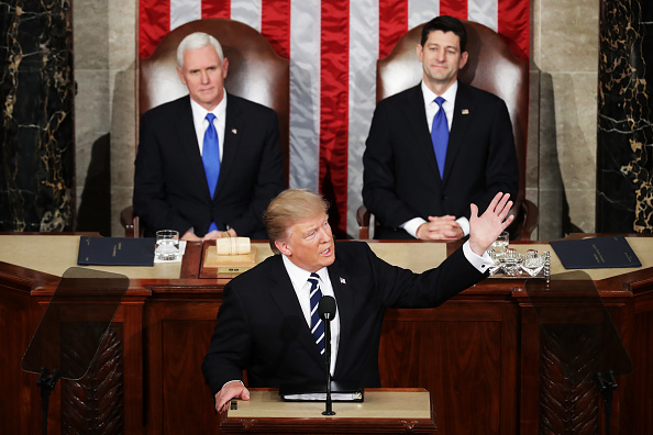Joint Session of Congress「Donald Trump Delivers Address To Joint Session Of Congress」:写真・画像(6)[壁紙.com]