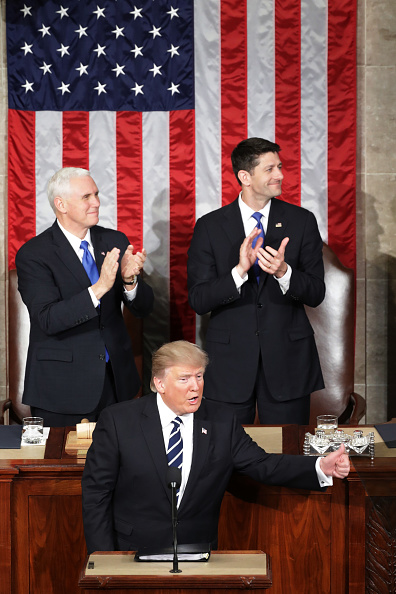 Joint Session of Congress「Donald Trump Delivers Address To Joint Session Of Congress」:写真・画像(3)[壁紙.com]