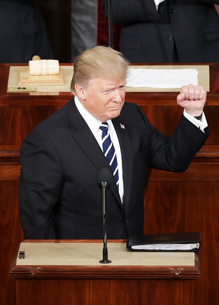 Joint Session of Congress「Donald Trump Delivers Address To Joint Session Of Congress」:写真・画像(13)[壁紙.com]