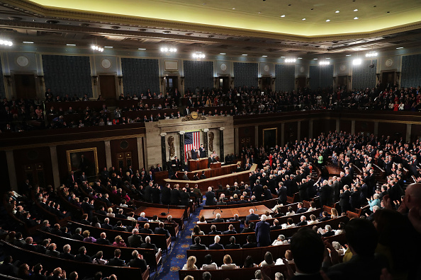 Congress「Donald Trump Delivers Address To Joint Session Of Congress」:写真・画像(7)[壁紙.com]