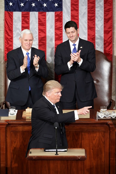 Joint Session of Congress「Donald Trump Delivers Address To Joint Session Of Congress」:写真・画像(4)[壁紙.com]