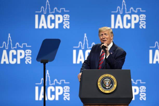 President Trump Addresses The International Association Of Chiefs Of Police:ニュース(壁紙.com)