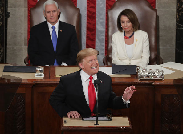 Politics「President Trump Delivers State Of The Union Address To Joint Session Of Congress」:写真・画像(5)[壁紙.com]