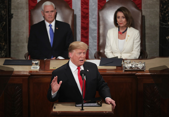US State Of The Union Address「President Trump Delivers State Of The Union Address To Joint Session Of Congress」:写真・画像(9)[壁紙.com]