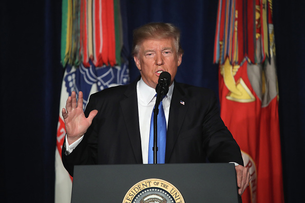 USA「President Trump Addresses The Nation On Strategy In Afghanistan And South Asia From Fort Myer In Arlington」:写真・画像(1)[壁紙.com]