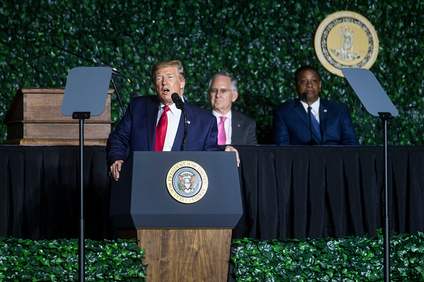 Jamestown - Virginia「President Trump Speaks At 400th Anniversary Celebration of The First Representative Legislative Assembly At Jamestown」:写真・画像(16)[壁紙.com]