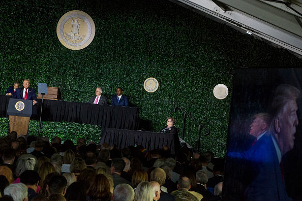Jamestown - Virginia「President Trump Speaks At 400th Anniversary Celebration of The First Representative Legislative Assembly At Jamestown」:写真・画像(17)[壁紙.com]