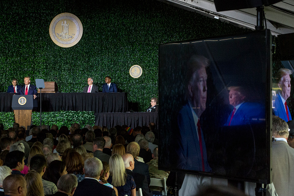Jamestown - Virginia「President Trump Speaks At 400th Anniversary Celebration of The First Representative Legislative Assembly At Jamestown」:写真・画像(11)[壁紙.com]