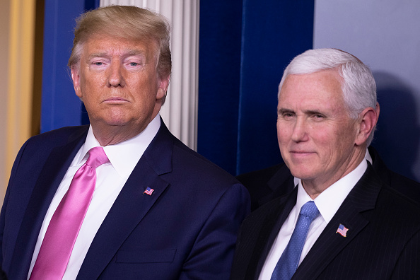 Mike Pence「President Trump Holds Press Conference With CDC Officials On Coronavirus」:写真・画像(15)[壁紙.com]