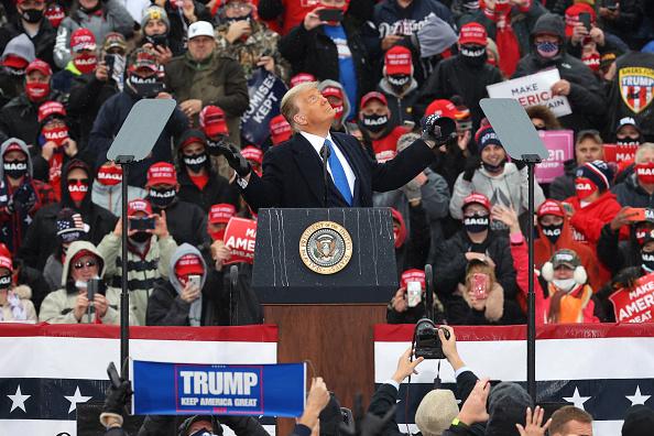 Speech「Donald Trump Campaigns For Re-Election In Michigan」:写真・画像(12)[壁紙.com]